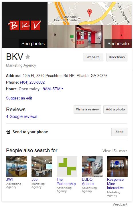 BKV business knowledge panel